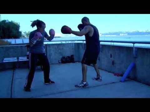 Postpartum Workout – Boxing Pad Work – Kickboxing Training – New Moms