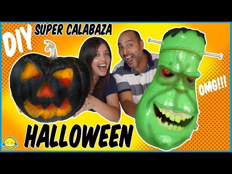 Casi 24 HORAS haciendo nuestra CALABAZA de HALLOWEEN 2019!! Making Fantastic Halloween Pumpking!!