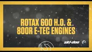 1. 2017 Ski-Doo : Rotax 600 H.O. and 800R E-TEC Engines