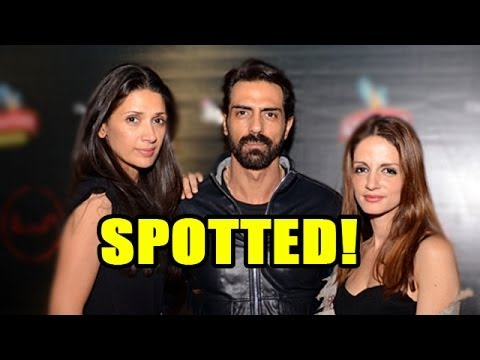 Arjun Rampal spotted with wife Mehr Jesia and Suss