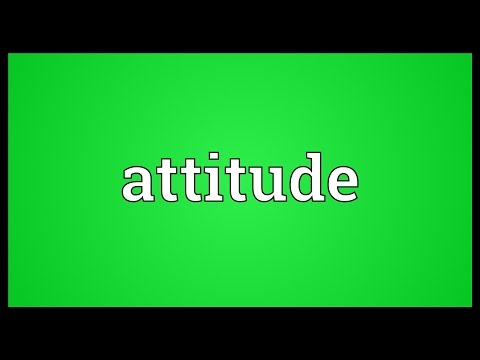 Attitude Meaning