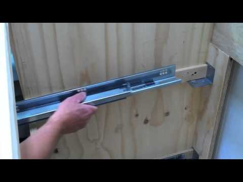 Installing Blum Tandem Undermount Drawer Slides: Tiny House