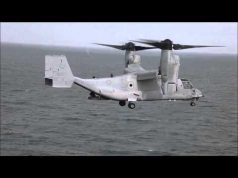 A U.S. Marine Corps MV-22 Osprey...