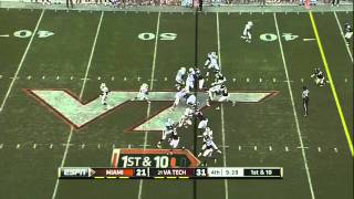 Lamar Miller vs Virginia Tech 2011