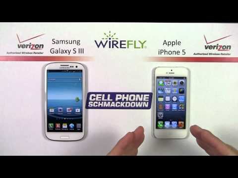 Samsung Galaxy S III vs. iPhone 5 Smartphone Schmackdown by Wirefly