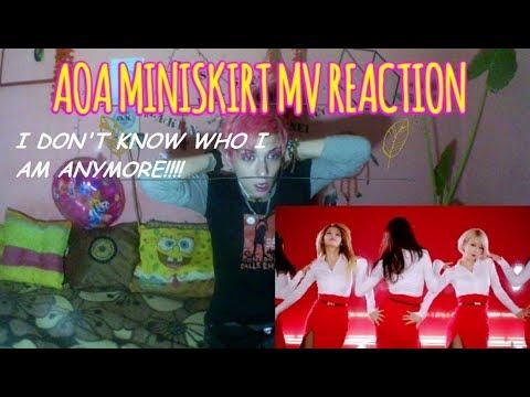 AOA - MINISKIRT MV REACTION (I WENT FULL LESBIAN AGAIN!!!)