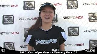 2021 Dominique Bass Shortstop and Outfield Softball Skills Video - Easton Preps