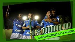 A torcida do Palmeiras deu um show à parte na conquista dos três pontos sobre o Vitória da Conquista, fora de casa, pela Copa...