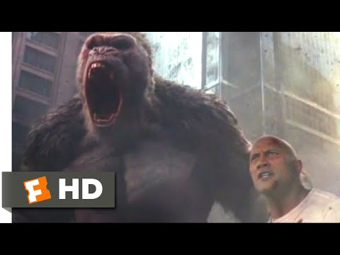Rampage (2018) - Three-Way Monster Brawl Scene (8/10) | Movieclips