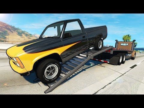 Launching Cars from Diesels During Police Chases! - BeamNG Gameplay & Crashes - Cop Escape