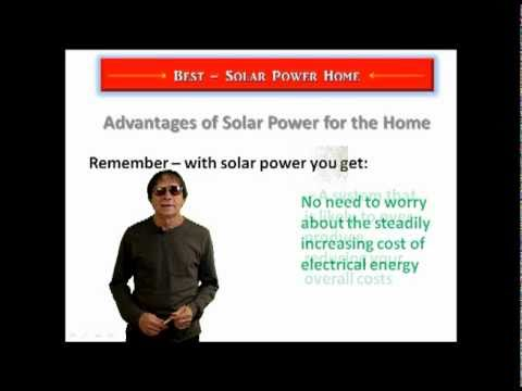 Advantages of Solar Power for the Home
