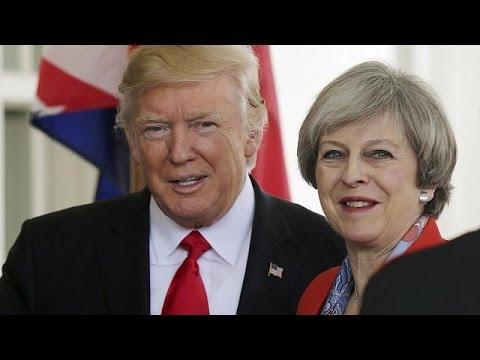 Τραμπ και Μέι χέρι-χέρι στον Λευκό Οίκο