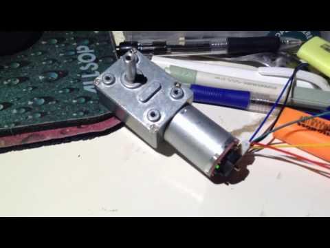 Geared DC Motor with quadrature encoder (Banggood)