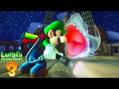 GIANT SHARK BOSS FIGHT!!  Luigi39s Mansion 3 13
