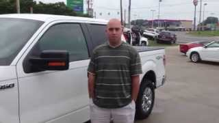 David picking up a 2011 Ford F150 crew at Vandevere Auto Outlet