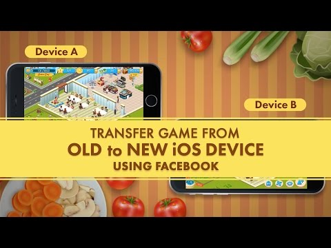 Star Chef - Transfer Game From Old To New IOS Device Using Facebook