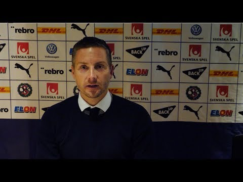 Presskonferens efter 4-0 mot Trelleborg