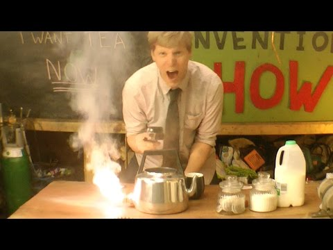 Guy Uses Thermite To Heat Tea