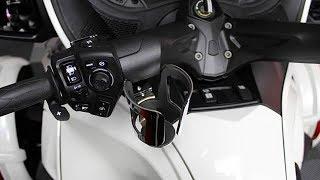 5. Can-Am Spyder RT Chrome Handlebar Mount Drink Holder