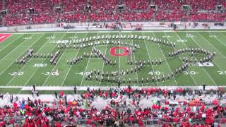 Ohio State Marching Band Video Game Halftime Show in HD -without Script Ohio 10/6/2012