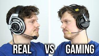 Video Real vs Gaming Headphones?! MP3, 3GP, MP4, WEBM, AVI, FLV Juli 2018