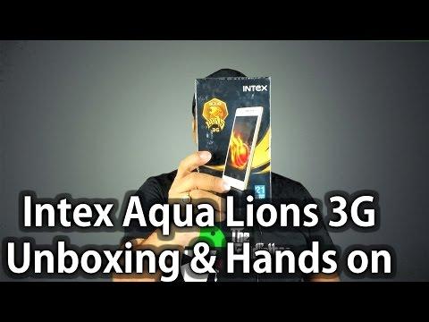 Intex Aqua Lions 3G Unboxing & Quick Hands on