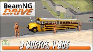 Triple Busto Takedown - BeamNG DRIVE - Crash Test Dummy Mod