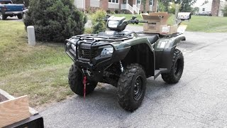 4. 2014 Honda Foreman 500 4x4 Playing And Working  And  ATV Spider Web Catcher ! With KVUSMC