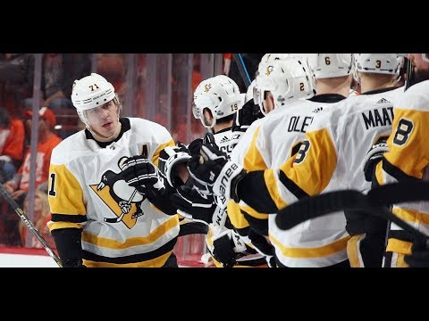 The Penguins scored 2 goals in 5 seconds