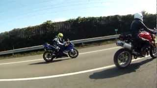 Ducati Monster 1100s and Yamaha YZF-R1
