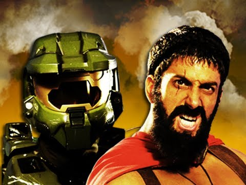 Master Chief vs Leonidas. Epic Rap Battles of History Season 2. (видео)