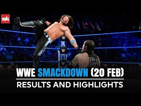 WWE SmackDown Live Results And Highlights : 20 Feb 2018 | AJ Styles In The Main Event | SK Hindi