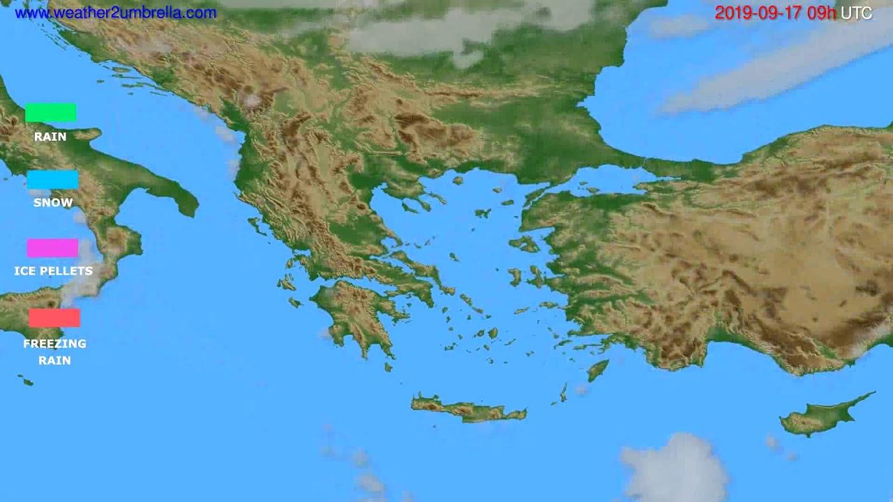 Precipitation forecast Greece // modelrun: 00h UTC 2019-09-15