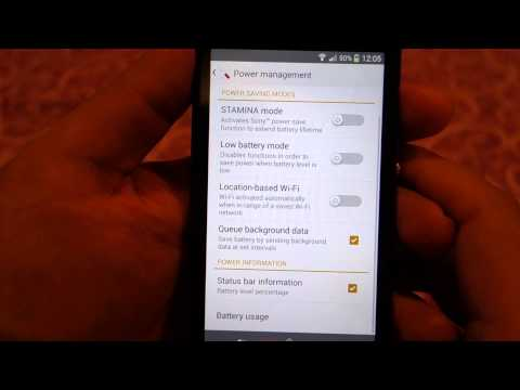 how to save battery in xperia v