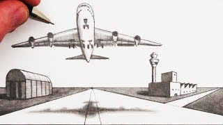 Learn How to Draw an Airplane and Airport in 2-Point Perspective in this simple art tutorial, narrated for beginners, step by step. Please SUBSCRIBE for many more of my art videos: http://www.youtube.com/circlelineartschoolI post a new art tutorial every Saturday.Watch Next:How to Draw Perspective Playlist: http://bit.ly/1QV3SsWI hope you LIKE, COMMENT & SUBSCRIBE: http://youtube.com/circlelineartschoolHi, my name is Tom McPherson and I founded Circle Line Art School as an online art education resource for all. My aim is to inspire people to learn to draw and be more creative.Please leave a comment to let me know what kind of drawing you would like to see next.You can follow me on:Facebook: http://facebook.com/circlelineartschoolInstagram: https://www.instagram.com/circlelineartschool/For weekly YouTube art videos: http://www.youtube.com/circlelineartschoolFor my website please visit: http://www.circlelineartschool.comThank you for your support and have a great day! Tom McPhersonCircle Line Art Schoolhttp://www.circlelineartschool.com