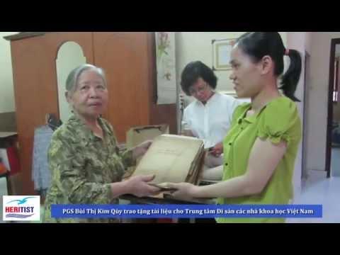 Trân trọng tiếp nhận Tài liệu hiện vật của ông bà PGS Lê Văn Sáu – Bùi Thị Kim Quỳ