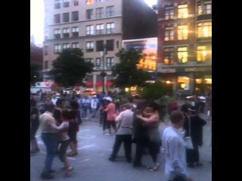 Free dance classes in Union Square, New York city 2013