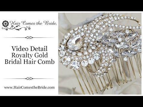 Gold Bridal Hair Comb ~ Bridal Hair Accessories and Jewelry by Hair Comes the Bride