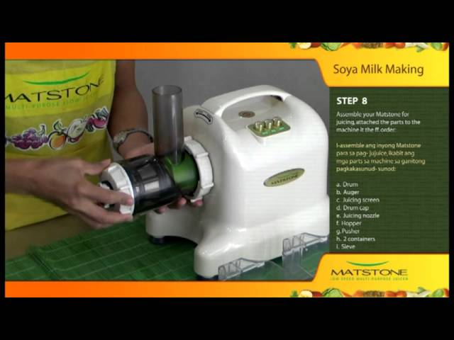 Soy Milk With Slow Juicer : Matstone 8in1 Slow Juicer Soya Milk Making Mp3DownloadOnline.com