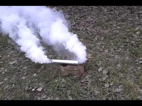 Как сделать дымовуху из газеты и селитры
