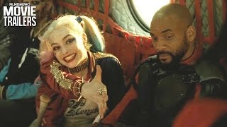 SUICIDE SQUAD  All Clips + Trailers Compilation [HD]