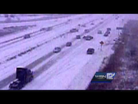 How not to drive in the snow (massive WI accident)