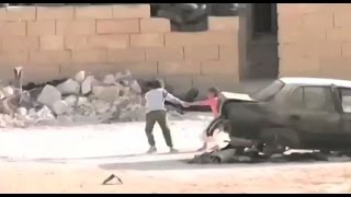 Brave Syrian Young Boy Rescue A Girl Under Sniper Fire