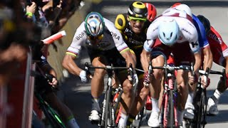 World champion Peter Sagan has been disqualified from the Tour for causing the crash on stage four involving Mark Cavendish. At the end of a largely uneventf...