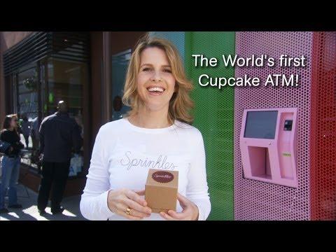 Το «γλυκό ATM» μοιράζει cupcakes!