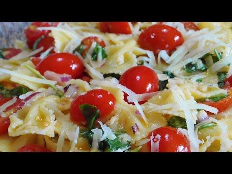 pasta fredda con pomodorini, rucola e parmigiano - ricetta