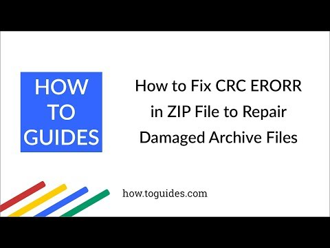 Video How to Fix CRC ERROR in ZIP File to Repair Damaged Archive Files - How.ToGuides.com download in MP3, 3GP, MP4, WEBM, AVI, FLV January 2017