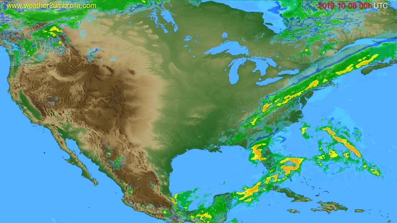 Radar forecast USA & Canada // modelrun: 12h UTC 2019-10-07