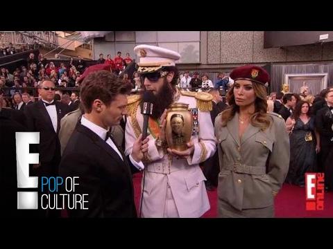 Sacha Baron Cohen Spills Ashes on Ryan Seacrest - 2012 Oscars | E!