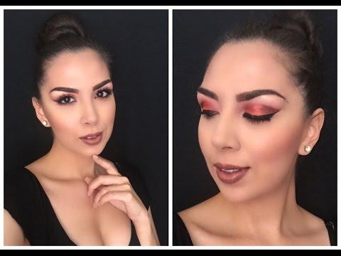 Smokey eye en Naranja y Rojo | Alejandra Galindo